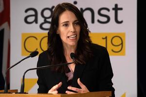 New Zealand Prime Minister Jacinda Ardern addresses a news conference in Wellington on March 24. (Marty Melville/AFP/Getty Images)