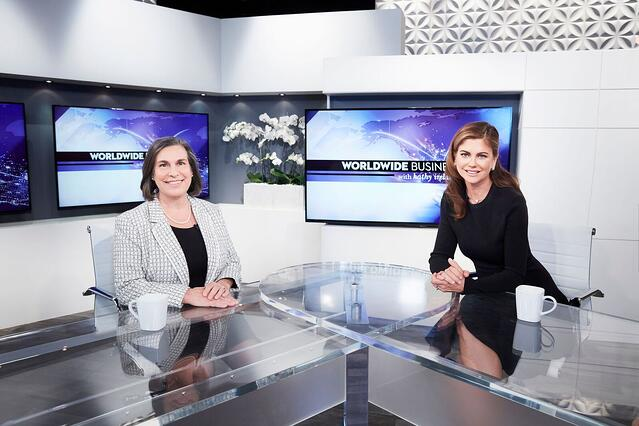 Photo Credit: Leading Women Appearing on the set of Worldwide Business with kathy ireland®