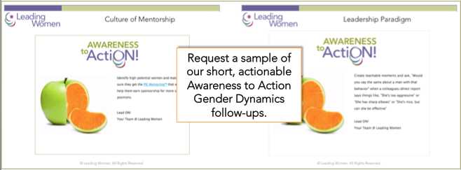Gender Dynamics Awareness to Action